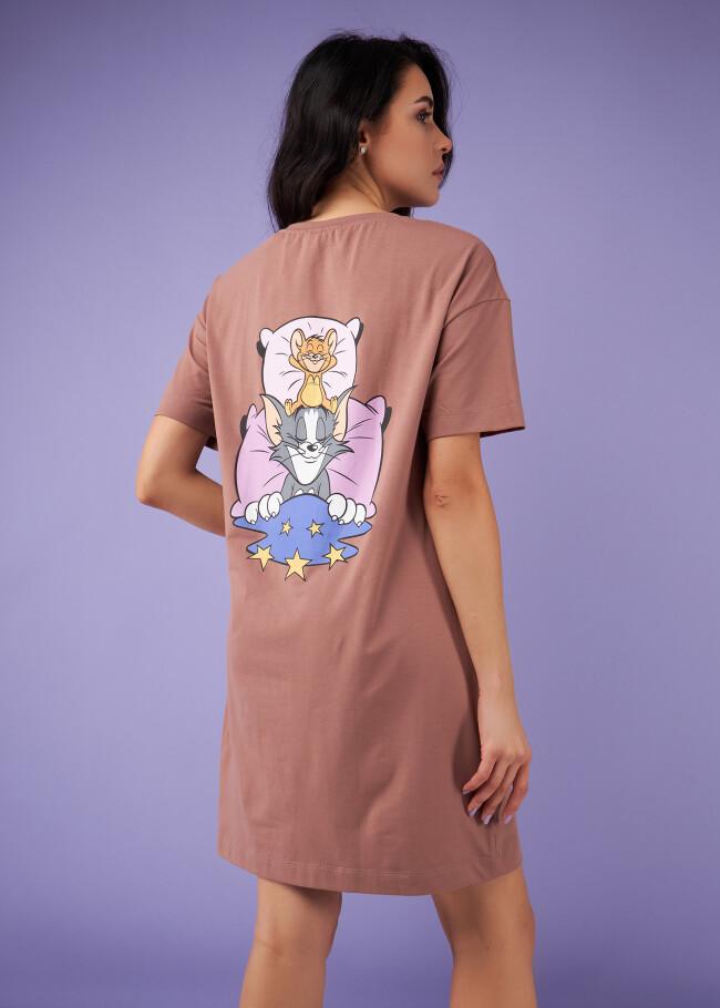 Сорочка нічна з принтом