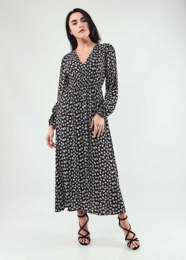Сукня максі з довгим рукавом