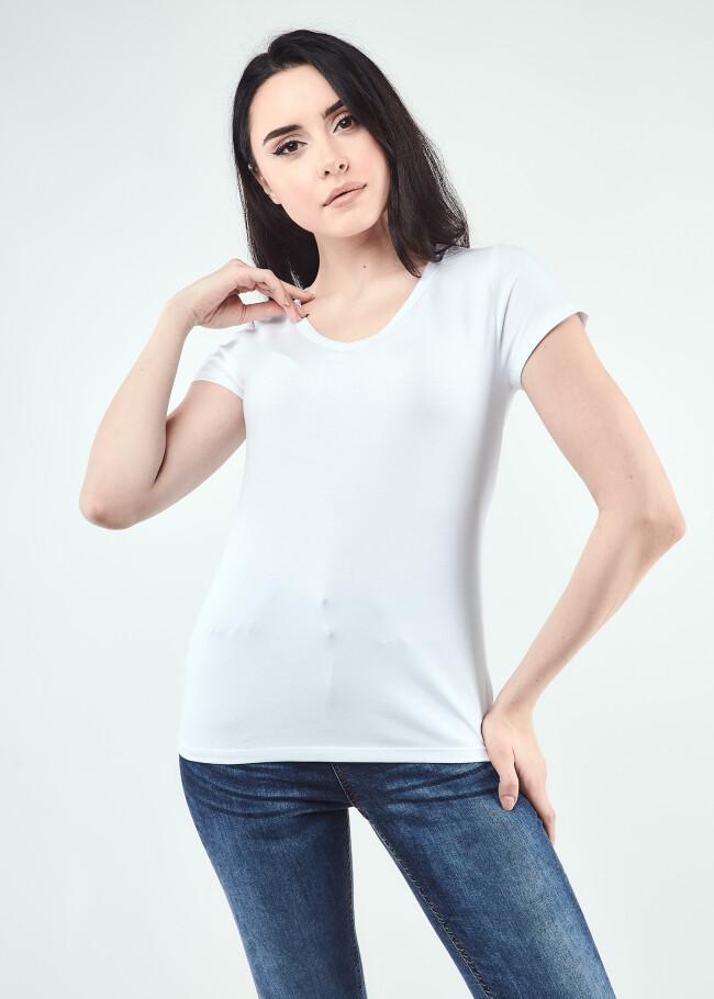 Базова футболка з V-вирізом