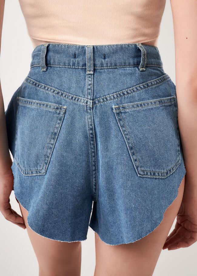 Шорти джинсові сонце-кльош