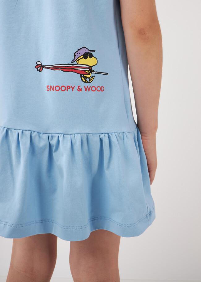 Сукня-футболка з оборкою