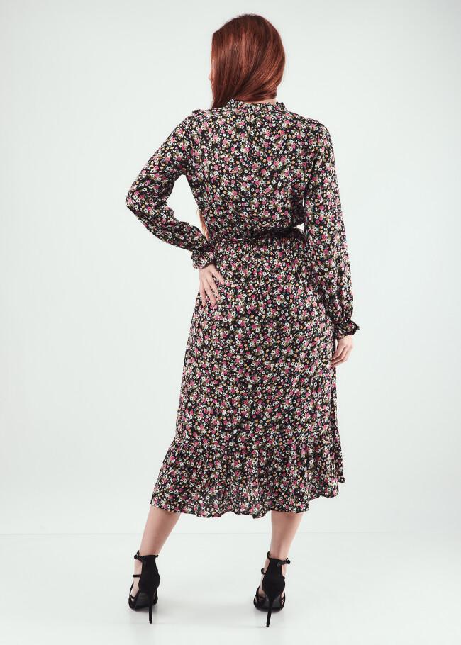 Сукня міді  на зав'язках