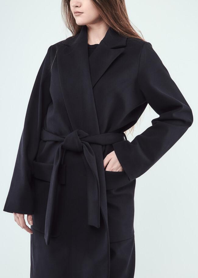 Пальто класичне міді