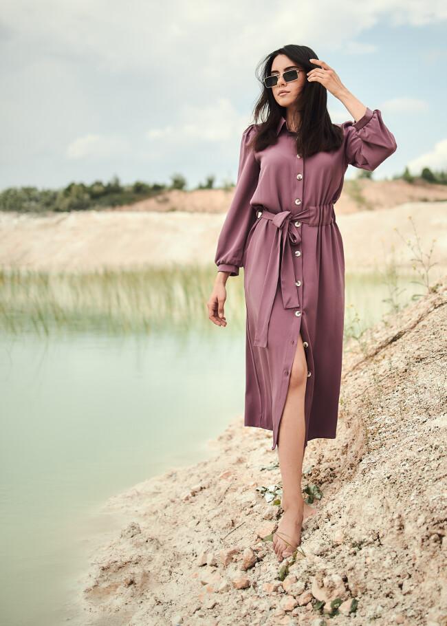 Сукня-сорочка міді