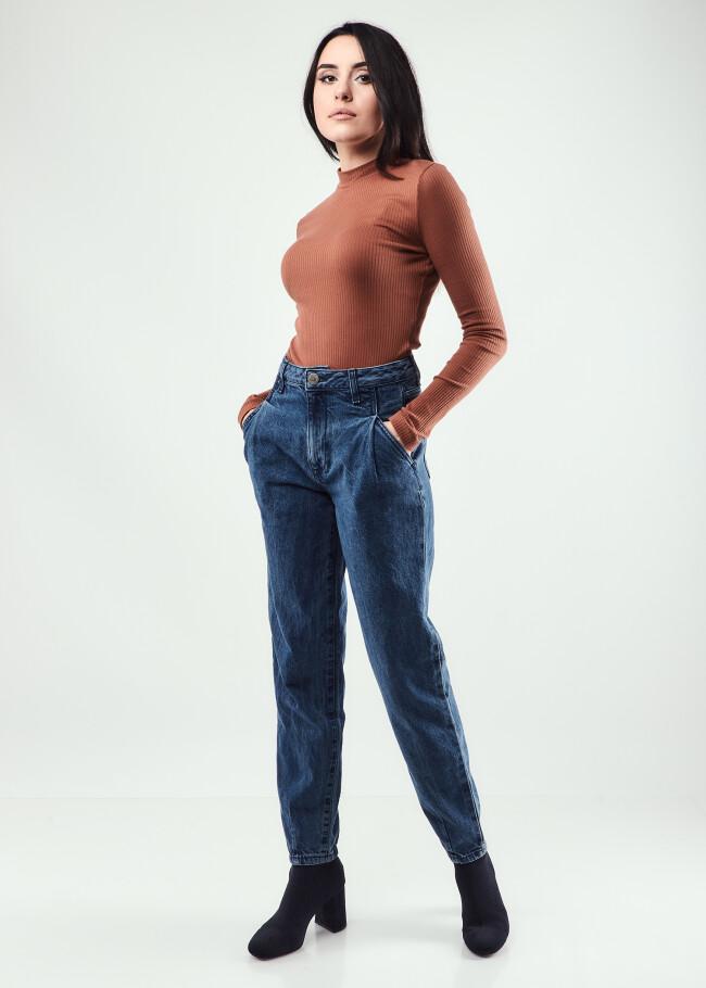 Джинси mom fit з защіпами