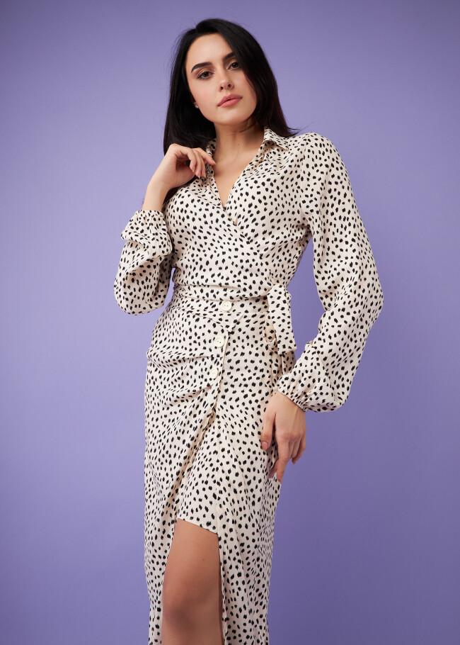 Блуза-болеро з принтом від костюма.