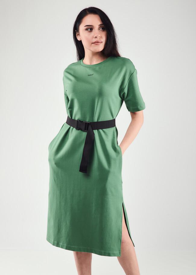 Сукня-футболка з поясом