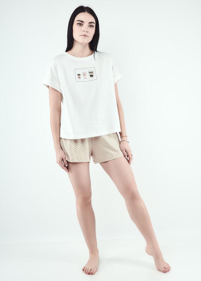 Піжамний комплект футболка-хуліганка та шорти