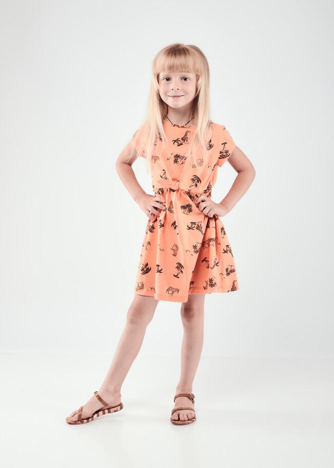 Сукня на зав'язці з принтом