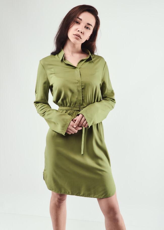 Сукня-рубашка з поясом