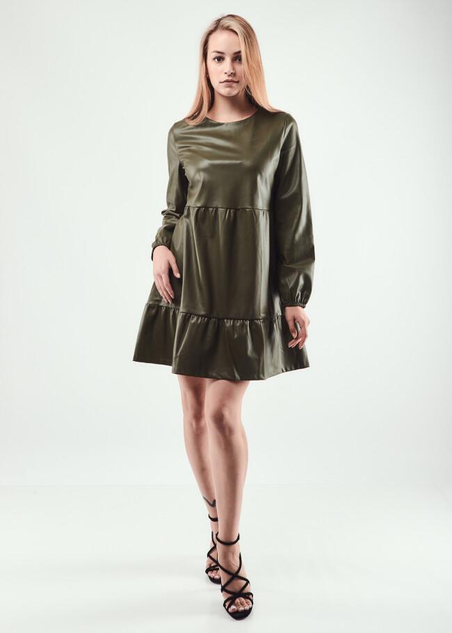 Сукня з еко-шкіри