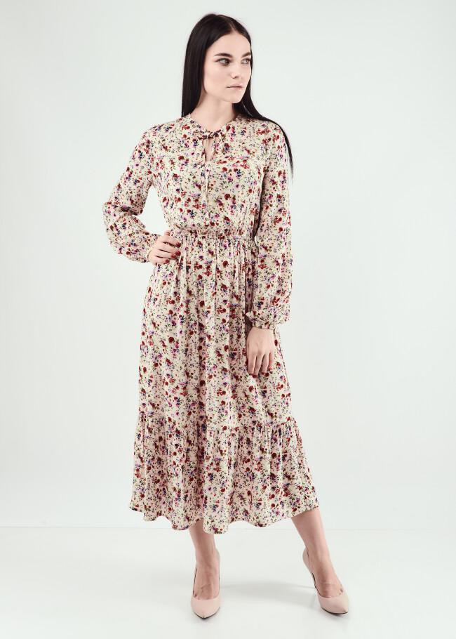 Сукня міді з зав'язкою