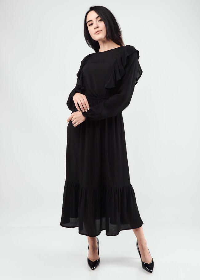 Сукня міді з воланами